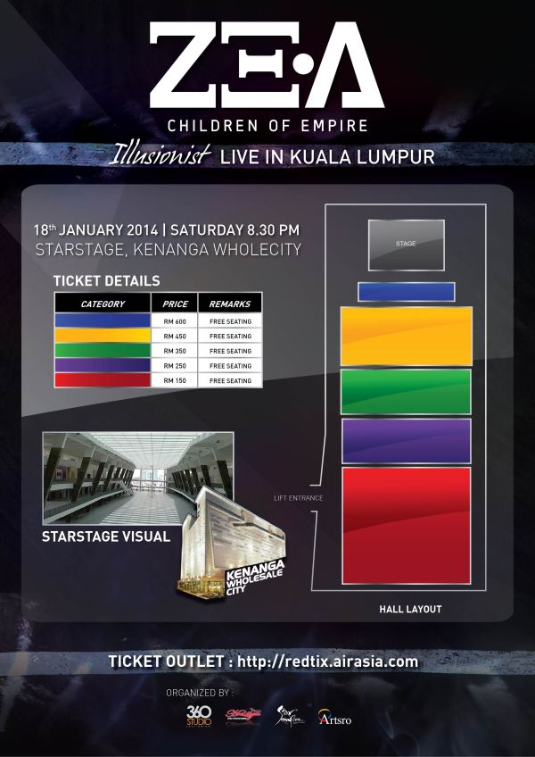 ZEA TICKET LAYOUT